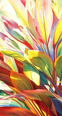 painted leaves Dreams Of Paradise Gallery Botanical Drawings, Botanical Art, Art Floral, Watercolor Flowers, Watercolor Paintings, Watercolours, Tropical Art, Painted Leaves, Leaf Art