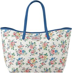 7bb6932050ae Cath Kidston Kingswood Rose Big Leather Trim Tote - ShopStyle