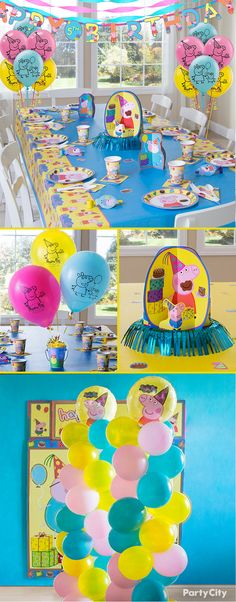 Peppa Pig and her friends love making a splash in muddy puddles—do the same but with bright balloon towers, centerpieces and more from our Peppa Pig birthday collection. Tableware, decorations, favors—Party City's got it all!
