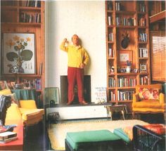 Truman Capote in his house in Long Island. Image from Horst Interiors