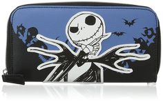 Nightmare Before Christmas Women's Jack Zip Around Wallet, Black, One Size at Amazon Women's Clothing store: