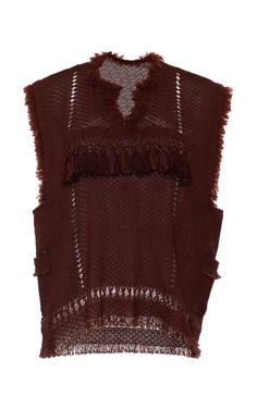 Oceanic Fringes Tacey Top In Rust by Isabel Marant for Preorder on Moda Operandi