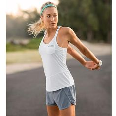 Best tank ever. So light and breathable. Athleta's speedsetters rock. Just wish the red was in stores...