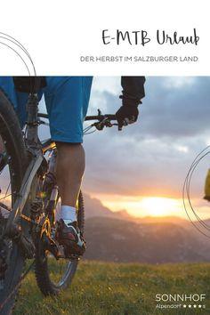 Ein großes Netz an E-Bike Routen findet man rund um den Sonnhof, Bikes können außerdem direkt im Hotel ausgeliehen werden. So wird der Herbsturlaub in Österreich zu einem Gipfelstürmer-Urlaub. Wie wärs? Easy Rider, Parks, E Biker, Bicycle, Blog, Bike, Bicycle Kick, Bicycles, Blogging