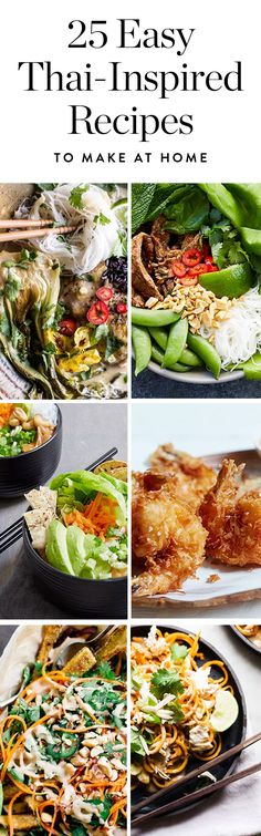 Here are some of our favorite easy Thai recipes plus a few fun interpretations. Which colorful dish do you want to make first? Easy Thai Recipes, Best Chicken Recipes, Asian Recipes, Beef Recipes, Vegetarian Recipes, Healthy Recipes, Best Food Photography, Easy To Make Dinners, Clean Eating