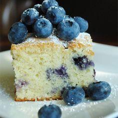 Melt-in-the-mouth blueberry cake @ http://allrecipes.co.uk