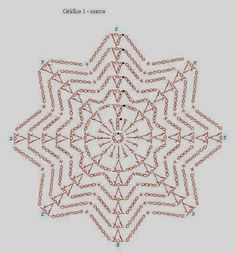 Best 7 beautiful, beautiful, christmas center in crochet. View and share – Crochet Designs Free – SkillOfKing. Crochet Symbols, Crochet Motifs, Crochet Mandala, Crochet Diagram, Crochet Doilies, Crochet Flowers, Crochet Snowflake Pattern, Christmas Crochet Patterns, Crochet Stars