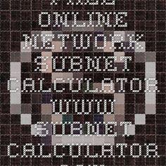 free online network subnet calculator wwwsubnet calculatorcom