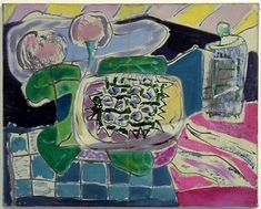 Patrick Heron, Still-Life with Peaches, Grapes and Bottle : 1947 Painting Still Life, Paintings I Love, Patrick Heron, Pastel, Painting & Drawing, Cool Art, Abstract Art, Fine Art, Drawings