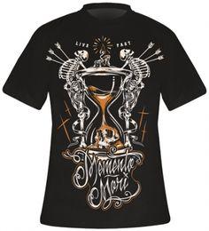 T-Shirt Mec HYRAW - Memento Mori - http://rockagogo.com