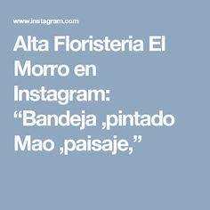 "Alta Floristeria El Morro en Instagram: ""Bandeja ,pintado Mao ,paisaje,"""