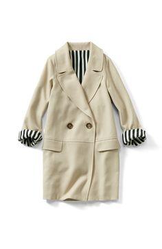 Felissimo | Cocoon silhouette tailored coat large collar Emutorowa |. haco [Jaco]