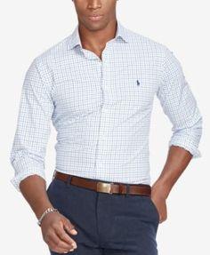 POLO RALPH LAUREN Polo Ralph Lauren Men'S Slim-Fit Tatersall Estate Shirt. #poloralphlauren #cloth #down shirts