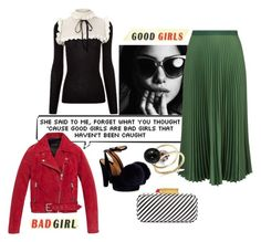 """""""Good girls do bad things sometimes"""" by obsessedaboutstyle ❤ liked on Polyvore featuring Vanessa Bruno, Sonia Rykiel, Lulu Guinness, Philosophy di Lorenzo Serafini, Andrew Marc, Moschino and Mateo"""