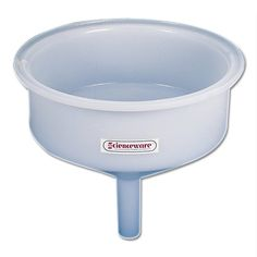 Bel-Art Scienceware 147160000, 14 Inside Diameter x 15-1/2 Height, Low Density Polyethylene Large Round Industrial Drum Funnel, with 25 Liter Volume This is a one-piece, 6.35mm (1/4 ) thick funnel with smooth or rounded surfaces for easy cleaning. The top cylindrical section is 36cm O.D. x 13cm high (15 x 5) with a 2.54cm (1) wide top flange. The 45 degree cone is 11cm (4-1/2) high and a 14c... #Scienceware #BISS