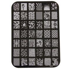 นี้ไง สินค้าที่คุณมองหา ลดราคาที่สุด Hanyu Nail Art Templates DIY Nail Stamp Manicure Tools