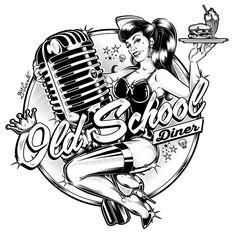"Logo ""Old School Diner"" - Italia - 2015... #Padgram"