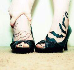 neck tattoo bat - Buscar con Google