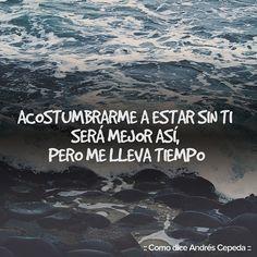 Este mensaje fue compartido vía Andrés Cepeda Letting Go, Decir No, Let It Be, Quotes, Instagram, Amor, Frases, Get Well Soon, Messages