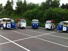 Vespa tuktuks huren met chauffeur !  Italiaanse vespa tuktuk - piaggio Calessino ape