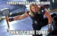 I couldn't figure out why Mjolnir seemed to be getting bigger.... then it hit me.
