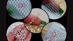 DIY: nail art using peel off scrapbooking stickers, via YouTube.