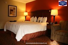 Relax in our Well-Appointed The Spacious Smoking One King-Sized Bed at The #hampton inn by hilton #Hotel in Denver, CO and near Denver International Airport
