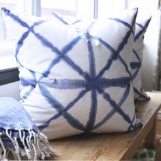 Shibori, Indigo Pillow by Tonic Living