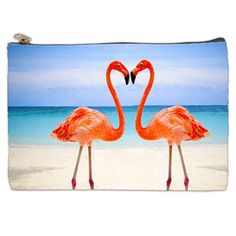 Pink Flamingo Cosmetic Bag  In The Pink Cosmetic by NirvanaRoad, $14.00