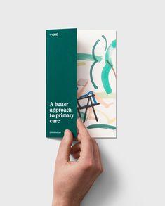 One Medical – Moniker — Design & Branding - Health Flugblatt Design, Layout Design, Print Design, Intimate Photography, Internal Design, Stress And Depression, Leaflet Design, Brand Guidelines, Primary Care