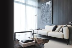 We perceive the space as an individual dwelling suite with the design concept of creating a bachelor pad by opening up most of the interior wall and replace with vertical full height glass boundary.   In a similar vein, overlapping spaces between dining, living and bedroom can be visually perceived at one glance. The blurred boundaries, creates opportunity for luxurious amount of natural lighting into the space. Thus, fostering a sense of intimacy of a small space yet deceptively spacious.
