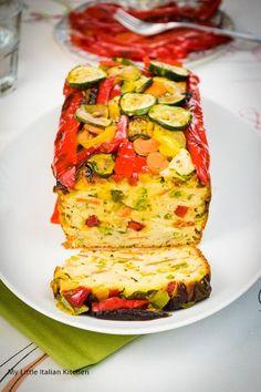 Savory vegetable loaf cake