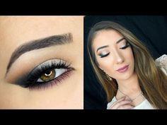 Smokey Cat Eye & Mauve Lips | Holiday Makeup Tutorial - YouTube