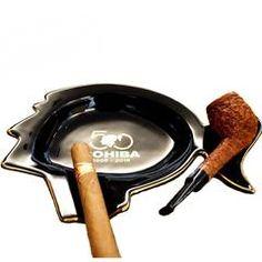 COHIBA Special Design Ashtray Black Ceramic W/ Gift Box - Ceramic, Special Design for Anniversary. Holds 1 cigar and a Pipe, elegant and modern design with Premium Gift BOX Cigar Ashtray, Cigar Bar, Zippo Lighter, 50th Anniversary, Cigars, Modern Design, Ceramics, Elegant, Box