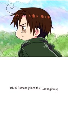 Romano is the new Levi - short and constantly pissed <- OMG. Hetalia/Attack on Titan mashup! Fandom Crossover, Anime Crossover, All Anime, Me Me Me Anime, Hetalia Funny, Spamano, Blue Exorcist, Attack On Titan, Memes