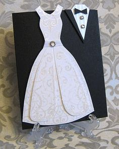 Wedding Card - Free template to make the wedding dress