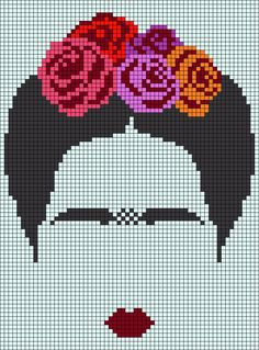 Alpha friendship bracelet pattern added by Aracne. Diy Embroidery, Cross Stitch Embroidery, Cross Stitch Patterns, Pixel Art Grid, Tiny Cross Stitch, Pixel Pattern, C2c, Alpha Patterns, Tapestry Crochet
