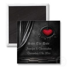 Love these beautiful gothic wedding save the date magnets!! $3.40  Volume discounts available