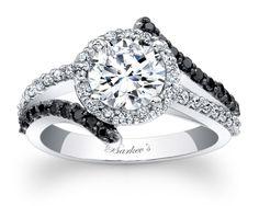 Barkev's Black Diamond Engagement Ring - 7857LBKW