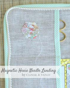 Clover & Violet — Magnetic Hexie Needle Landing {Tutorial}