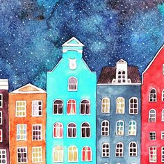 "Tina van Dijk on Instagram: ""My very late contribution to #ifdrawaweek49 - Doors and Windows . .  #canalhouse #canalhouses #amsterdam #ifdrawaweek #leylasartprompt…"""