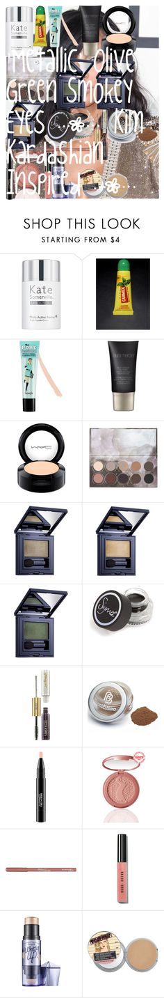 """'Metallic' Olive Green Smokey Eyes 