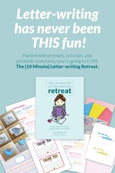 The {10 Minute} Letter-writing Retreat - Here's a resource that you're going to love. Includes prompts for writing better letters, tutorials on card (and cute project)-making, and lots of printable stationery to use immediately! created by littlegirldesigns.com #snailmail