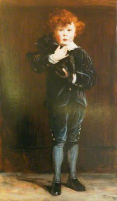 Portrait of a Boy with a Cat by John Pettie Oil on canvas, 114.3 x 65.3 cm Collection: City of Edinburgh Council