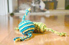 """Happy Cat Candy"" crochet cat toys"