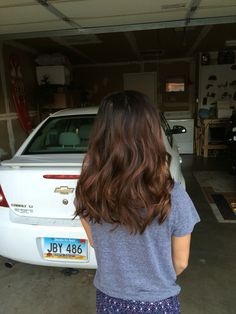 Subtle balayage on dark brown hair (my hair)
