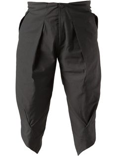 SRULI RECHT Long Pleated Shorts.
