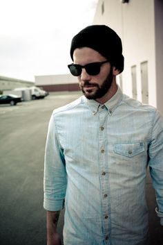Button up, beard & beanie - perfect!