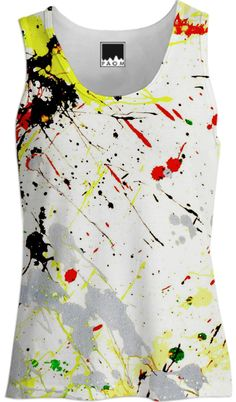 Paint Splatter TANK TOP designed by #Gravityx9 #PAOM #PrintAllOverMe #paintsplatter -