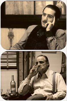 Vito Corleone, young and old Godfather Quotes, The Godfather Part Ii, Godfather Movie, Corleone Family, Don Corleone, The Best Films, Great Movies, Music Film, Film Movie